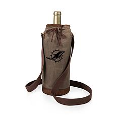 Officially Licensed NFL Picnic Time Waxed Canvas Wine Tote - Miami