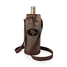 Officially Licensed NFL Picnic Time Waxed Canvas Wine Tote - 49ers
