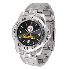 Officially Licensed NFL Pittsburg Steelers Sport Steel Series Watch