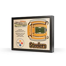 Officially Licensed NFL Pittsburgh Steelers StadiumView 3D Wall Art