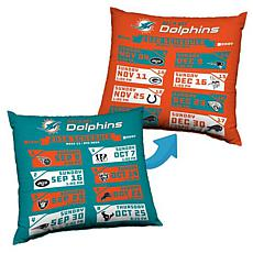 Officially Licensed NFL Reversible Schedule Pillow