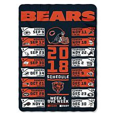 brand new a653b c7d48 Officially Licensed NFL Schedule Fleece Throw by Northwest Company