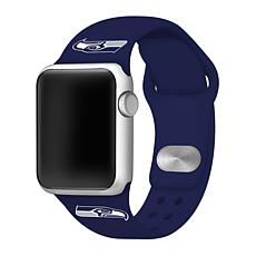 Officially Licensed NFL Seahawks 42mm/44mm Apple Watch Med. Sport Band
