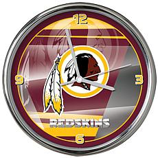 reputable site 26c64 43736 Officially Licensed NFL Shadow Chrome Clock - Redskins