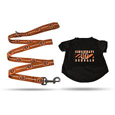 Officially Licensed NFL Small Pet T-Shirt with 4' Leash - Bengals