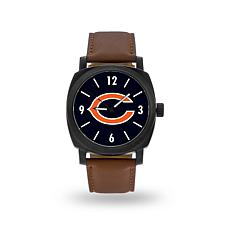 "Officially Licensed NFL Sparo ""Knight"" Faux Leather Watch - Bears"