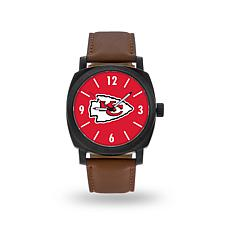 "Officially Licensed NFL Sparo ""Knight"" Faux Leather Watch - Chiefs"
