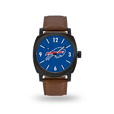 """Officially Licensed NFL Sparo""""Knight""""Faux LeatherWatch - Bills"""
