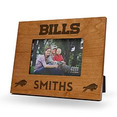 Officially Licensed NFL Sparo Personalized Wood Picture Frame - Bills
