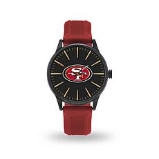 "Officially Licensed NFL Sparo Team Logo ""Cheer"" Strap Watch - 49ers"