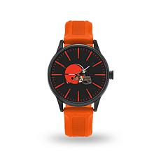 "Officially Licensed NFL Sparo Team Logo ""Cheer"" Strap Watch - Browns"