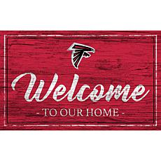 Officially Licensed NFL Team Color Sign - Atlanta Falcons