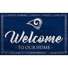 Officially Licensed NFL Team Color Sign - Los Angeles Rams