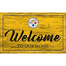 Officially Licensed NFL Team Color Sign - Pittsburgh Steelers