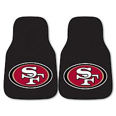 Officially Licensed NFL Team Logo Carpeted Car Mat 2pk