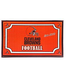 Officially Licensed NFL Team Logo Embossed Doormat - Br
