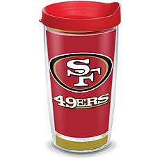 Officially Licensed NFL Touchdown  Tumbler w/ Lid- San Francisco 49ers