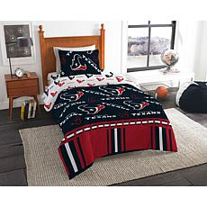 Officially Licensed NFL Twin Bed in a Bag Set - Houston Texans