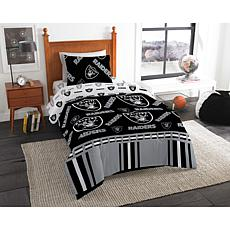 Officially Licensed NFL Twin Bed In a Bag Set - Oakland Raiders