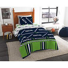 Officially Licensed NFL Twin Bed In a Bag Set - Seattle Seahawks