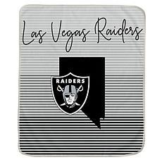 Officially Licensed NFL Ultra Fleece State Stripe Blanket - Raiders