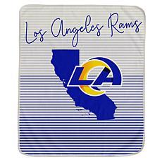 Officially Licensed NFL Ultra Fleece State Stripe Throw Blanket - Rams