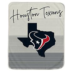 Officially Licensed NFL Ultra Fleece State Stripe Throw Blanket-Texans