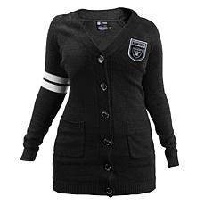 Officially Licensed NFL Varsity Cardigan - Raiders