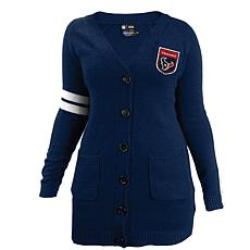 Officially Licensed NFL Varsity Cardigan - Texans