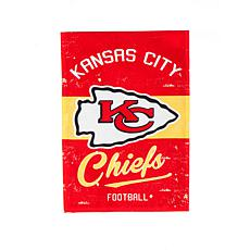Officially Licensed NFL Vintage Linen Garden Flag - Chiefs