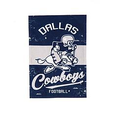 Officially Licensed NFL Vintage Linen Garden Flag - Cowboys