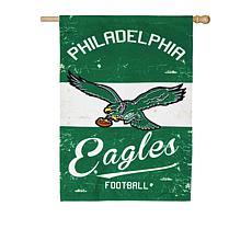Officially Licensed NFL Vintage Linen House Flag - Eagles