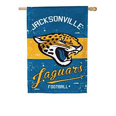 Officially Licensed NFL Vintage Linen House Flag - Jaguars