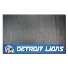 Officially Licensed NFL Vinyl Grill Mat  - Detroit Lions