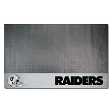 Officially Licensed NFL Vinyl Grill Mat  - Oakland Raiders
