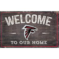 Officially Licensed NFL Welcome Sign - Atlanta Falcons