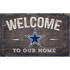 Officially Licensed NFL Welcome Sign - Dallas Cowboys