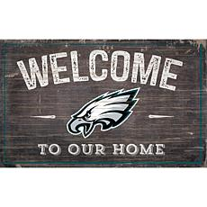 Officially Licensed NFL Welcome Sign - Philadelphia Eagles