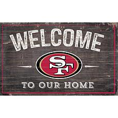 Officially Licensed NFL Welcome Sign - San Francisco 49ers