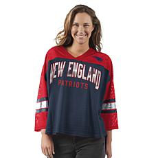 Officially Licensed NFL Women's Razzle Dazzle Mesh Top by Glll