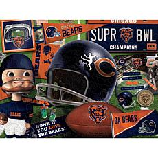 Officially Licensed NFL  Wooden Retro Series Puzzle - Chicago Bears