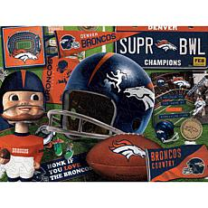 Officially Licensed NFL Wooden Retro Series Puzzle - Denver Broncos