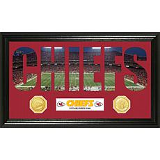 Officially Licensed NFL Word Art Bronze Coin Panoramic