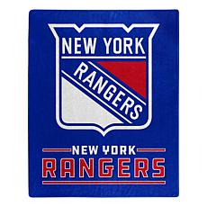 Officially Licensed NHL 0704 Interference Raschel Blanket - NY Rangers