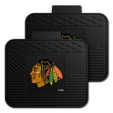 Officially Licensed NHL 2-Piece Utility Mat Set - Chicago Blackhawks