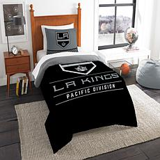 Officially Licensed NHL Draft Twin Comforter Set - LA Kings