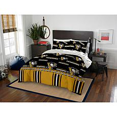 Officially Licensed NHL Queen Bed in a Bag Set - Pittsburgh Penguins