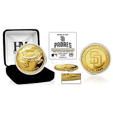 "Officially Licensed ""Stadium"" Gold Mint Coin - San Diego Padres"