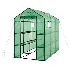 Ogrow 2-Tier Extra-Large Portable Walk-In Greenhouse with 12 Shelves