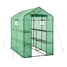 Ogrow 2-Tier Portable Walk-In Greenhouse with 8 Shelves